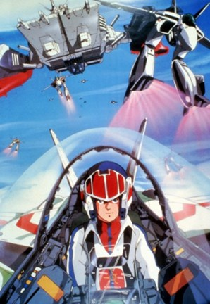 Framed Robotech: The Movie Print