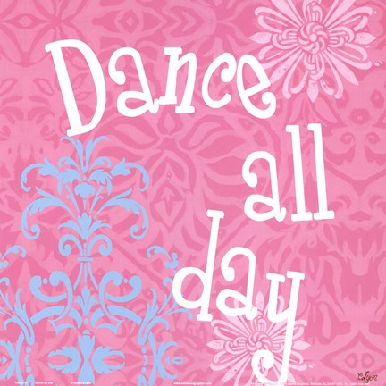 Framed Dance all Day Print