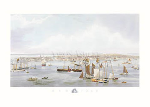 Framed Anonymous - New York Harbor Print