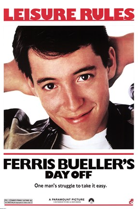 Framed FERRIS BUELLERS DAY OFF Print