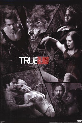 Framed True Blood - Shattered Mirror Print