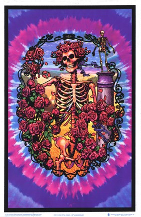 Framed Grateful Dead – 30 Year Anniversary (Blacklight) Print