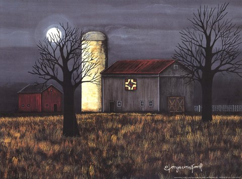 Framed Moon Farm II Print