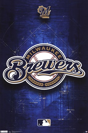 Framed Brewers - Logo 11 Print