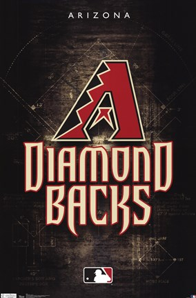 Framed Diamondbacks - Logo 11 Print