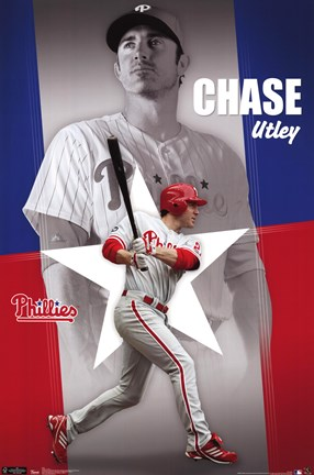 Framed Phillies - C Utley 11 Print