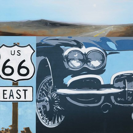 Framed Route 66-A Print