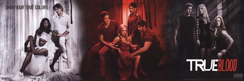 Framed True Blood Three Images Print