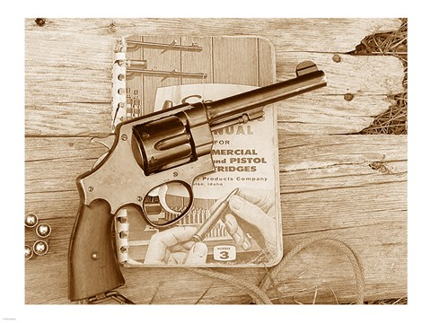 Framed 1917 Smith and Wesson with Speer Reloading Handbook Print