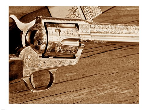 Framed Engraved Colt Single Action Print