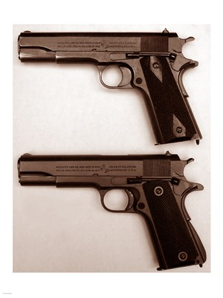 Framed M1911 and M1911A1 Pistols Print
