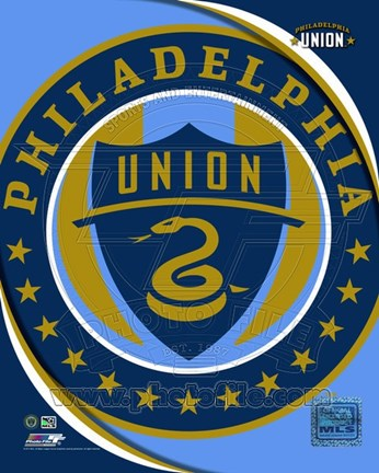 Framed 2011 Philadelphia Union Team Logo Print