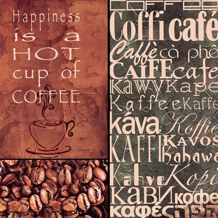 Framed Coffee In Any Language Print