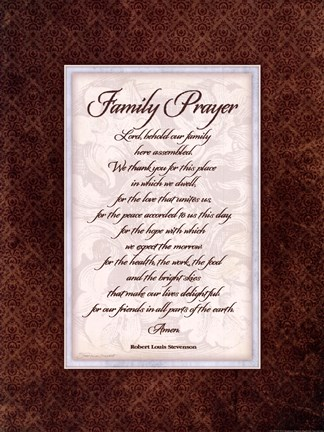 Framed Family Prayer Print