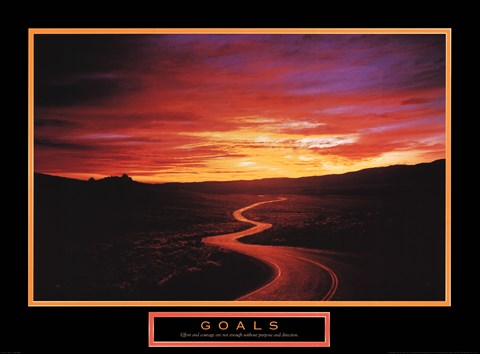 Framed Goals - Sunset Road Print