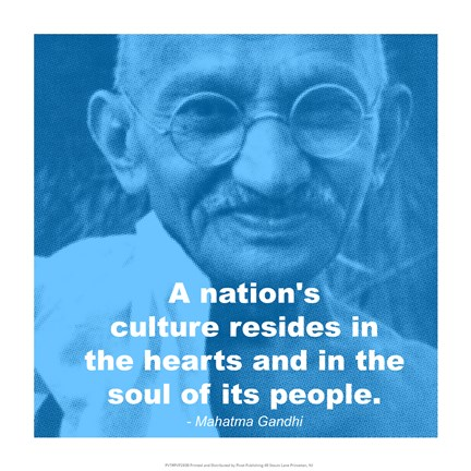 Framed Gandhi - Nations Quote Print