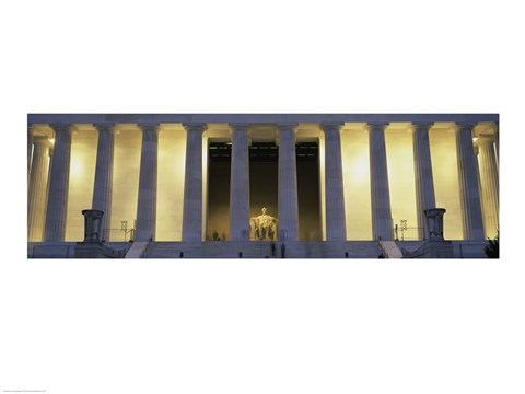 Framed Lincoln Memorial Washington, D.C. USA Pillars Print