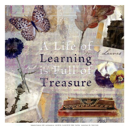 Framed Learning Treasure - mini Print