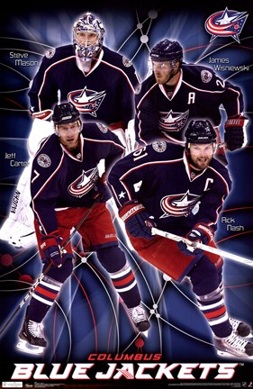 Framed Blue Jackets® - Collage 11 Print