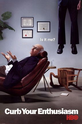 Framed Curb Your Enthusiasm - Is It Me? Print