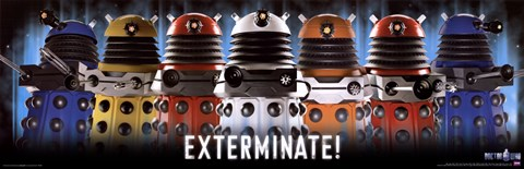 Framed Doctor Who Daleks Exterminate Print