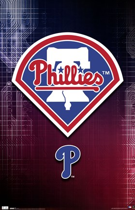 Framed Phillies - Logo 10 Print