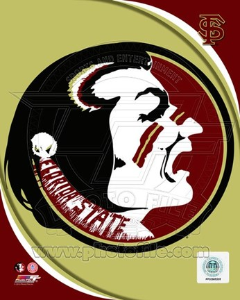 Framed Florida State University Seminoles Team Logo Print