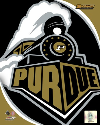 Framed Purdue University Boilermakers Team Logo Print