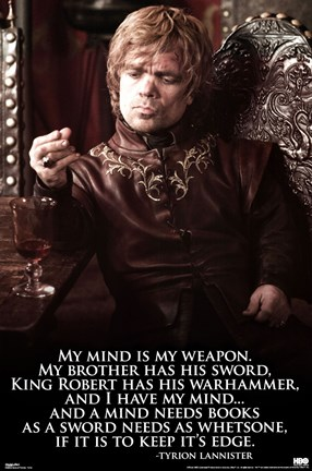Framed Game of Thrones - Tyrion Print
