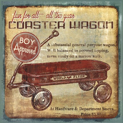Framed Coaster Wagon Print