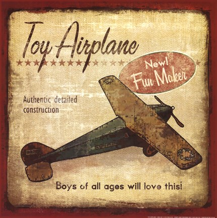 Framed Toy Airplane Print