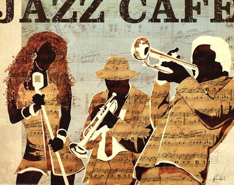 Framed Jazz Cafe Print