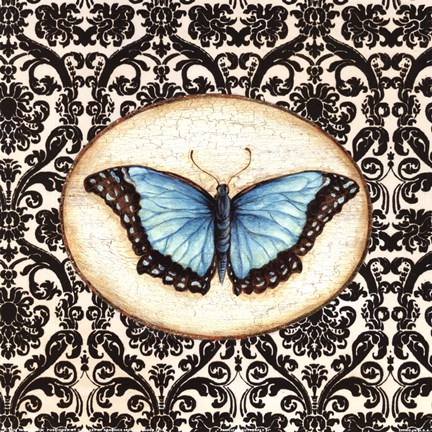 Framed Fanciful Butterfly II Print