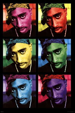 Framed Tupac - Pop Art Print