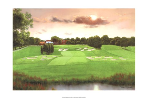 Framed Bethpage Black 18th Hole Print