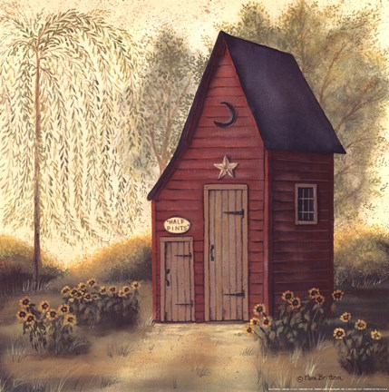 Folk Art Outhouse Ii Artwork By Pam Britton At Framedart Com