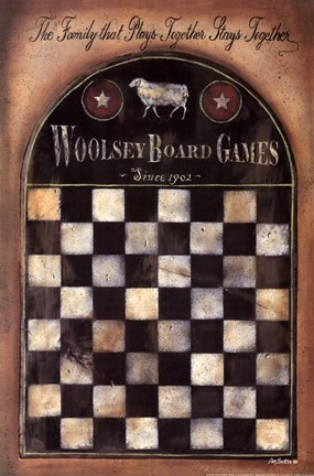 Framed Woolsey Board Game Print