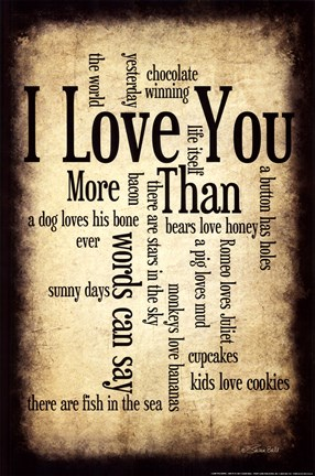 Framed I Love You More I Print