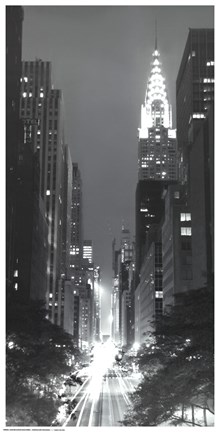 Framed Looking Across 42nd Street Print