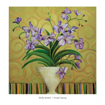 Framed Purple Spring Print