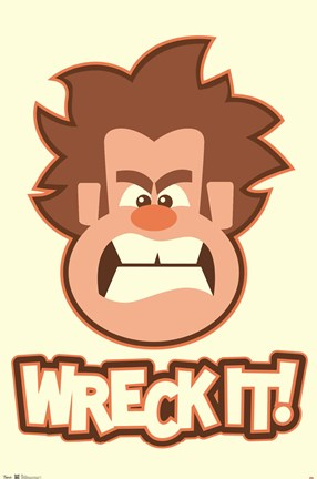 Framed Wreck-It Ralph Print
