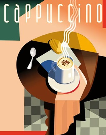 Framed Cubist Cappuccino Print