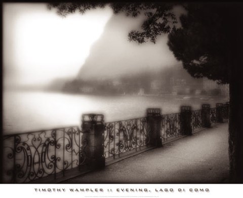 Framed Evening, Lago di Como Print