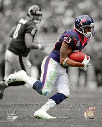 Framed Arian Foster 2012 Spotlight Action Print