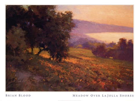 Framed MEADOW OVER LA JOLLA SHORES Print