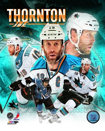 Framed Joe Thornton 2013 Portrait Plus Print