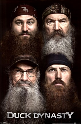 Framed Duck Dynasty - Beards Print