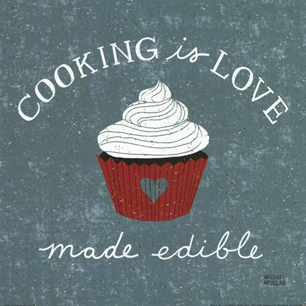 Framed Cooking Is Love Print