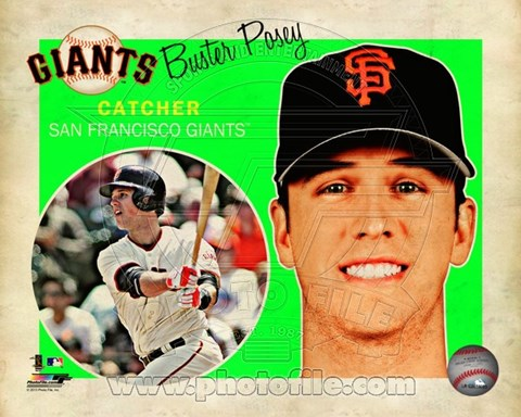 Framed Buster Posey 2013 Studio Plus Print