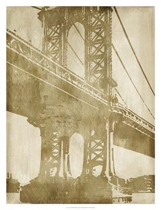 Framed Non-Embellished Bridge Etching II Print